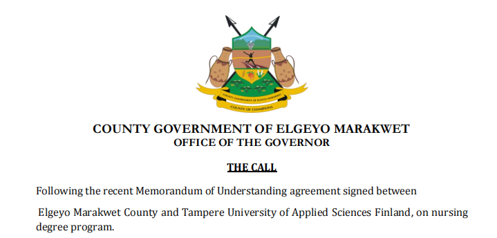 Tampere University, Finland Opportunity For Students From Elgeyo Marakwet County