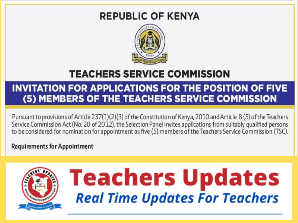 INVITATION FOR APPLICATIONS FOR THE POSITION OF FIVE (5) MEMBERS OF THE TEACHERS SERVICE COMMISSION