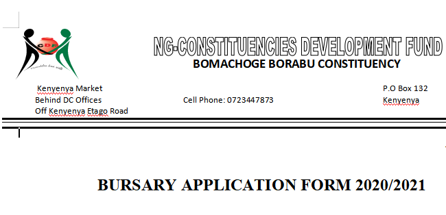 BOMACHOGE BURSARY APPLICATION 2020/2021