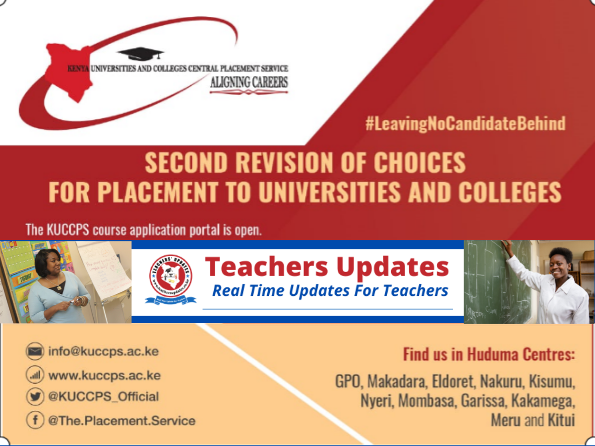KUCCPS opens the 2nd Revision of choices for placement of32,718 candidates who missedtheir degree choices