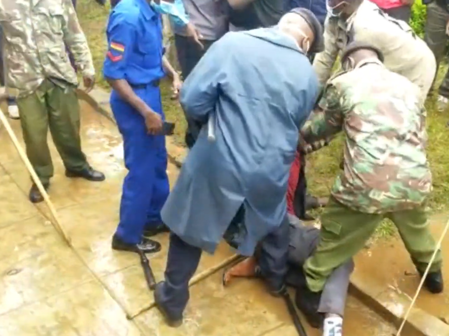 Drama As Two People Masquerading As BOM Teachers Are Arrested In Migori During Kuppet Elections.