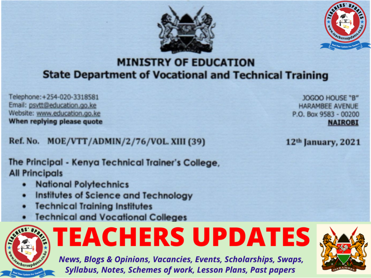 Education Ministry Update On Pedagogy Training For TVET Trainers