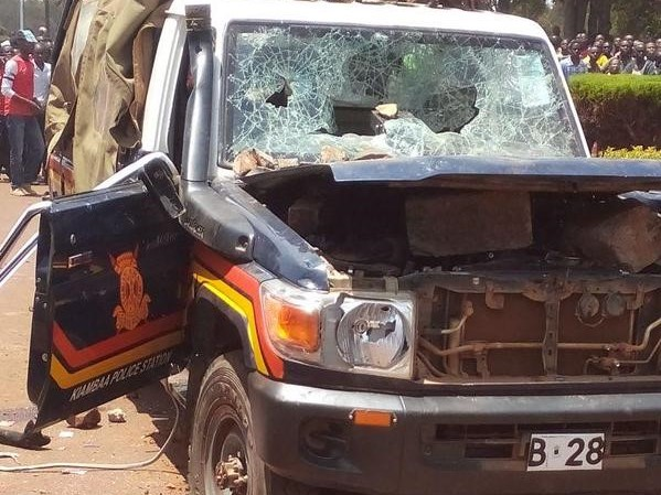 KCSE Candidate Hit Police, Destroys Their Vehicle and Escapes Exam