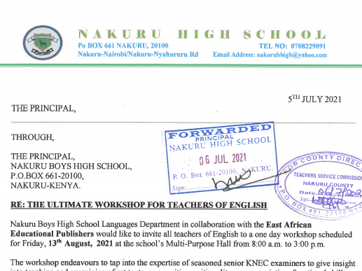 THE ULTIMATE WORKSHOP FOR TEACHERS OF ENGLISH