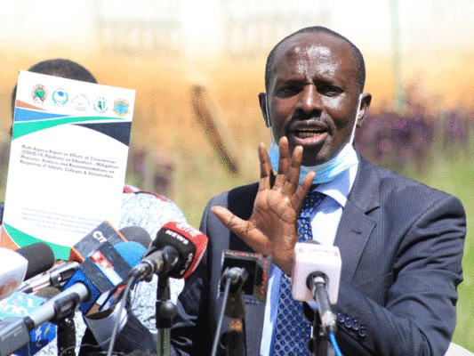 Primary schools never recieved funds for the implementation of COVID-19 protocols. KNUT SG Wilson Sossion claims.