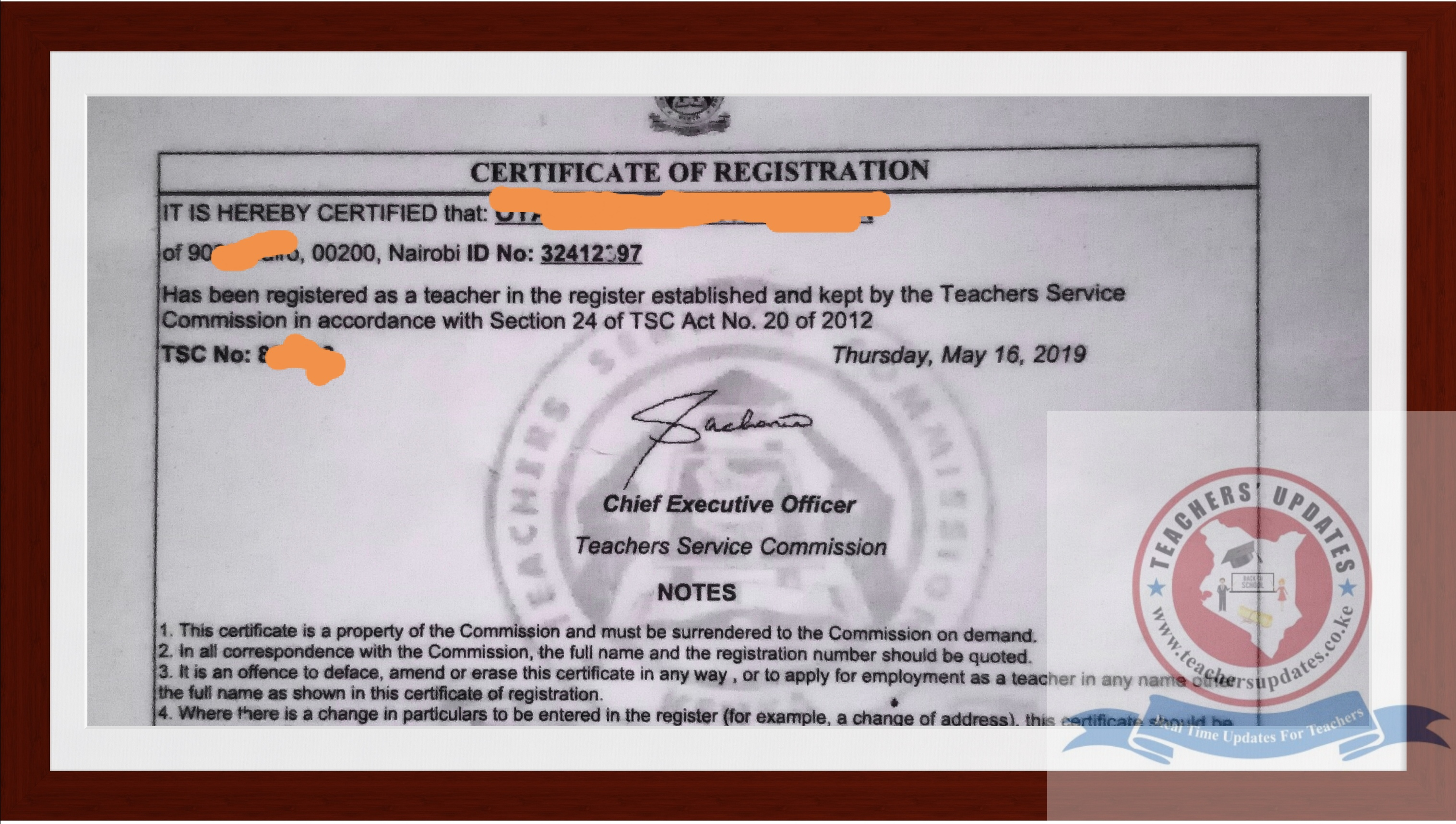 How To Apply For TSC Number. Requirements For TSC Application